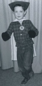 Young Wally in his First Batman Costume