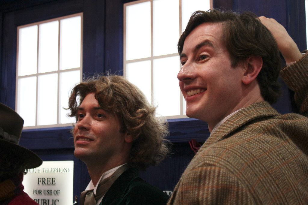 Ewan as Eleven with the 8th Doctor as SDCC '11