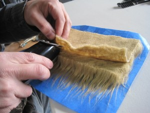 Fur Application - Tape outer side and shave off the back