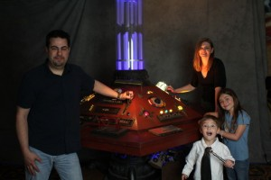 Paul with his Family at the Console Photo by Scott Sebring