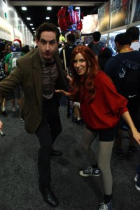 Ewan As Eleven with his wife Angel as Amy Pond