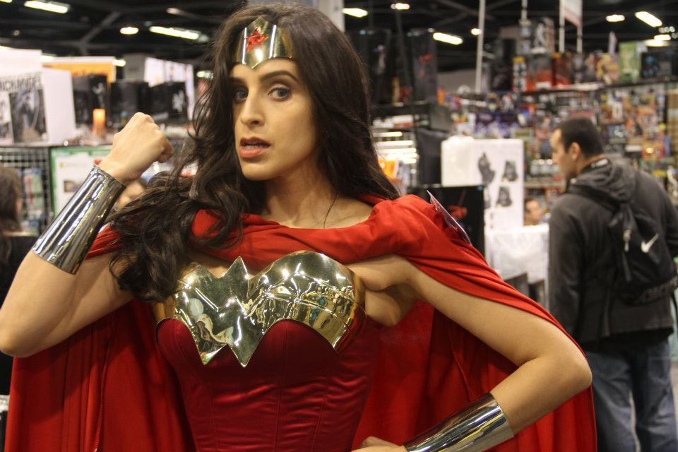 Wonder Woman Flexes