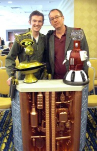 Kevin with Joel - and his replica MST3K robots!