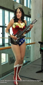Wonder Woman rocks out to Guitar Hero