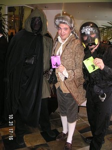 Winning a Work Competition as Thomas Jefferson/Ben Franklin in Halloween 2006