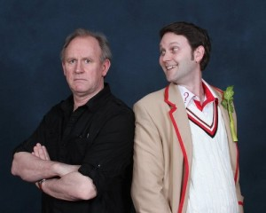 Kevin meets Peter Davison Who is Not Amused