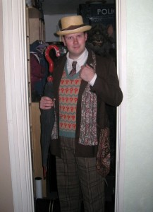 Chris tries on the Season 26 Costume