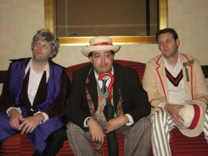 Three Bored Doctors at Gally 2008 (Photo taken by Rob Shearman)