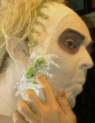 Wally gets into his Beetlejuice Make Up