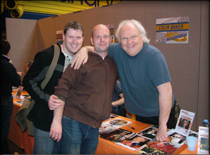 Chris and John meeting Colin Baker