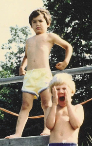 Wearing yellow trunks on a ledge?- Must be Bobby as Tarzan!
