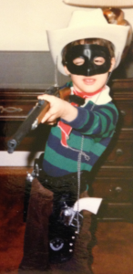 Young Bob as the Lone Ranger