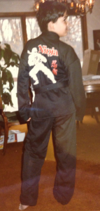 Me as a Ninja (with name written on it!) a Typical 80's Halloween