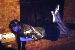 Vickie as the Blue Martian/Smurfette