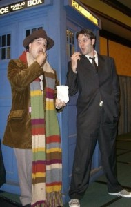 Kevin as Ten and me in my early Four at Gally 2007
