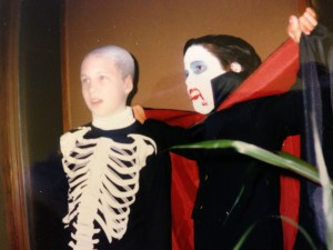 Young Bob with friend Joe as Dracula and Skeleton