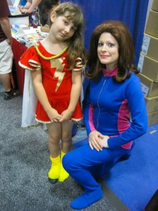 Teri with a Mary Marvel Fan