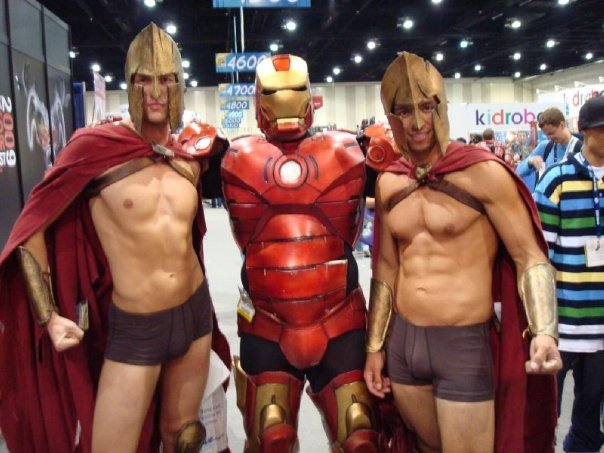 Malaki in his Iron man Costume with some Spartans