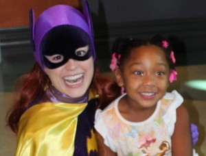 Teri as Batgirl and making this girl's day