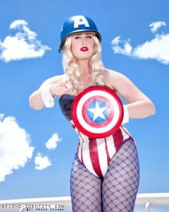 Rachel as the Captain America Bunny