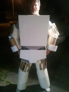 Malaki in his custom made Circuit Chap Costume