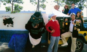 Gilligan's Island Group with SS Minnow a ta Work Halloween contest