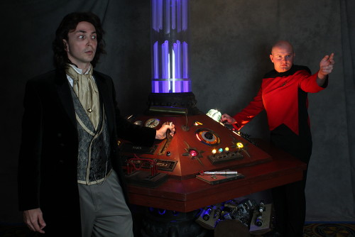 John Adams as Eight and... Picard in the TARDIS? Photo by Scott Sebring