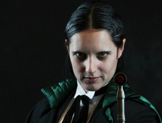 Lyn as the Shalka Doctor Photo by Scott Sebring