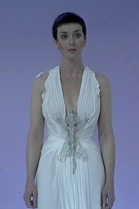 "One of Servelan's trademark White Costume designs by June for Blakes 7 ""Redemption"""