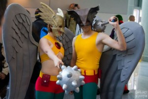 Gender bent Hawkman and Hawkgirl
