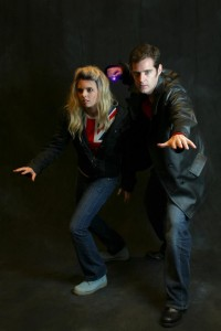 Nine and Rose at Gallifrey one