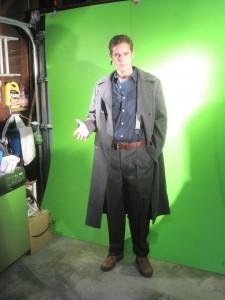 Capt Jack on the set