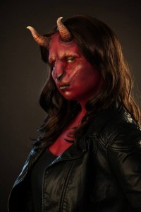 Demon make up by Elizabeth Bursick
