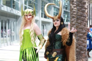 Amora and Loki at Wonder Con