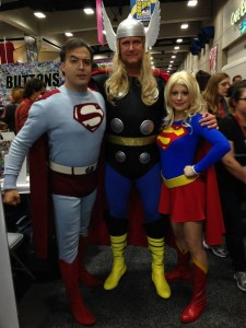 Superman and Supergirl meet Thor
