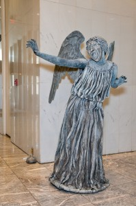 Weeping angel from Dr. Who.
