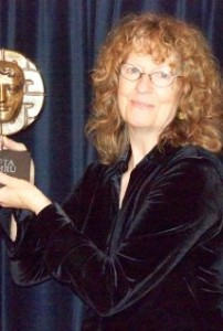 Sheelagh with the BAFTA