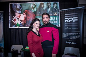 Keith and Abby as Troi and Riker