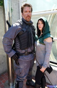 Keith and Abby as Slade Wilson and Shado From Arrow