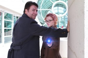Keith and Abby as Jack Harkness and Femme Tenth Doctor
