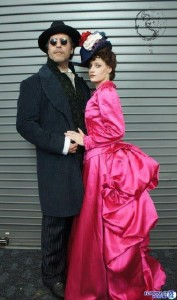 Keith and Abby as Sherlock Holmes and Irene Adler (2009 version)