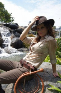 Abby as Femme Indiana Jones