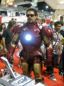 Keith as Tony Stark in Iron Man Armor