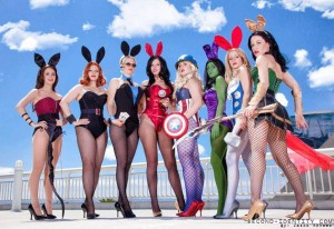 Abby in the Avengers Bunnies Group