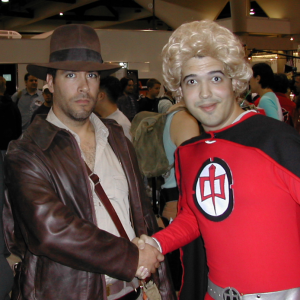 When Ketih and I first met SDCC 2002 as Indiana Jones and The Greatest American Hero